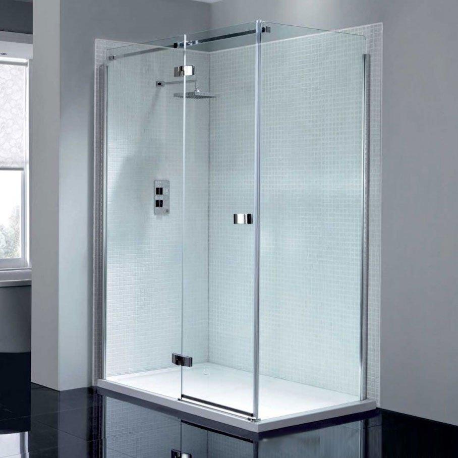 April Prestige2 Frameless 1200mm Hinge Shower Door with In-line ...