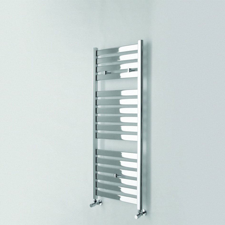 Aura 25 Curved Electric Towel Warmer Chrome White: Ideal Essential Aries Chrome Curved Towel Warmer 1380 X