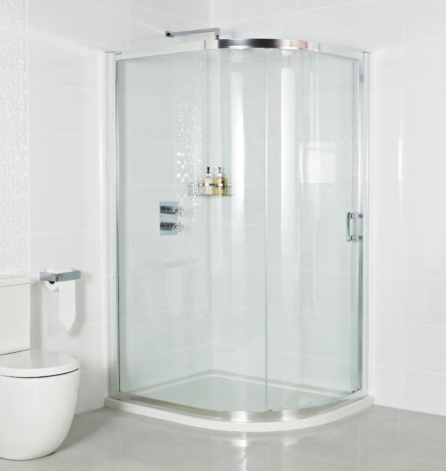 Roman Lumin8 One Door 800 X 1000 Offset Quadrant Shower Enclosure