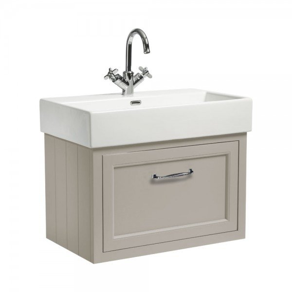 Roper Rhodes Hampton 565mm Chalk White Mirrored Door Bathroom Cabinet Hamcab W