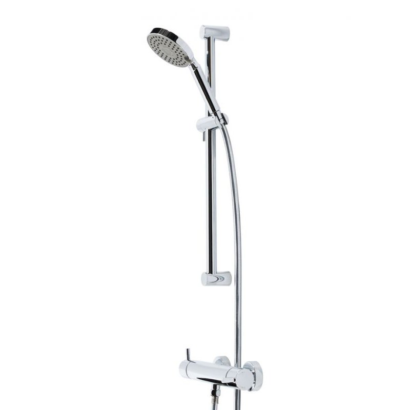 Round 250mm Cool To Touch Shower Kit With Handheld: Niagara Observa Square Thermostatic Shower Set