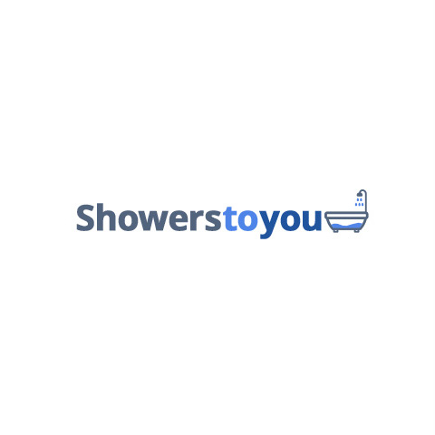 Aquadart 1000mm Inline Hinge Recessed Shower Door-1