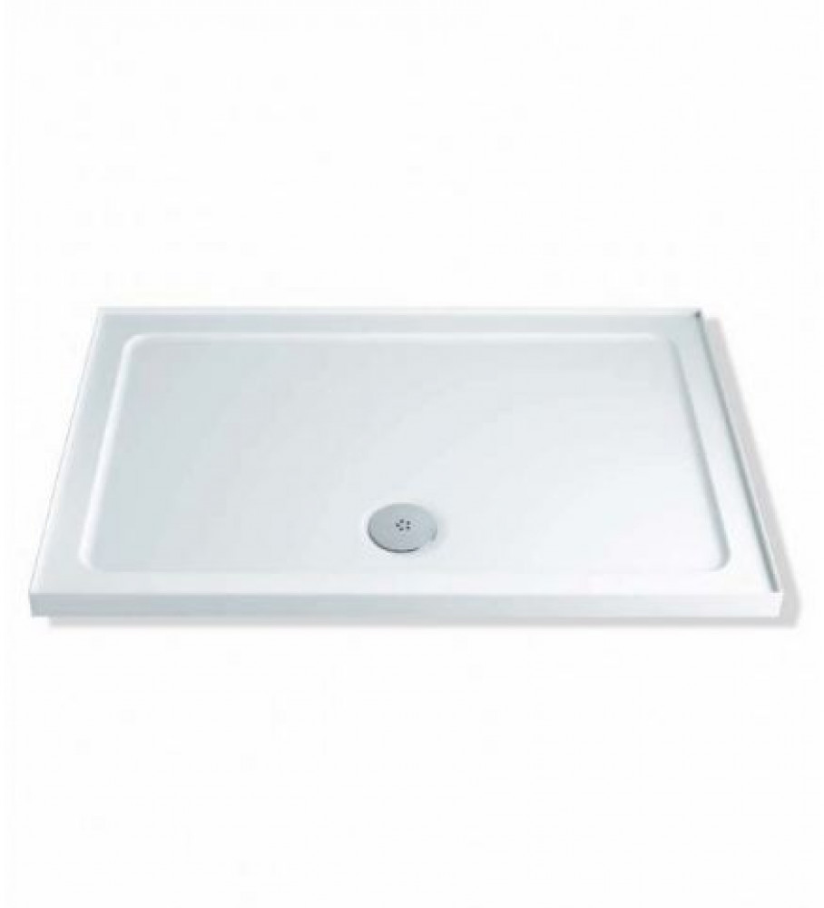 MX Durastone 1000 x 800 Rectangular Shower Tray With Upstands Low Profile | XF8