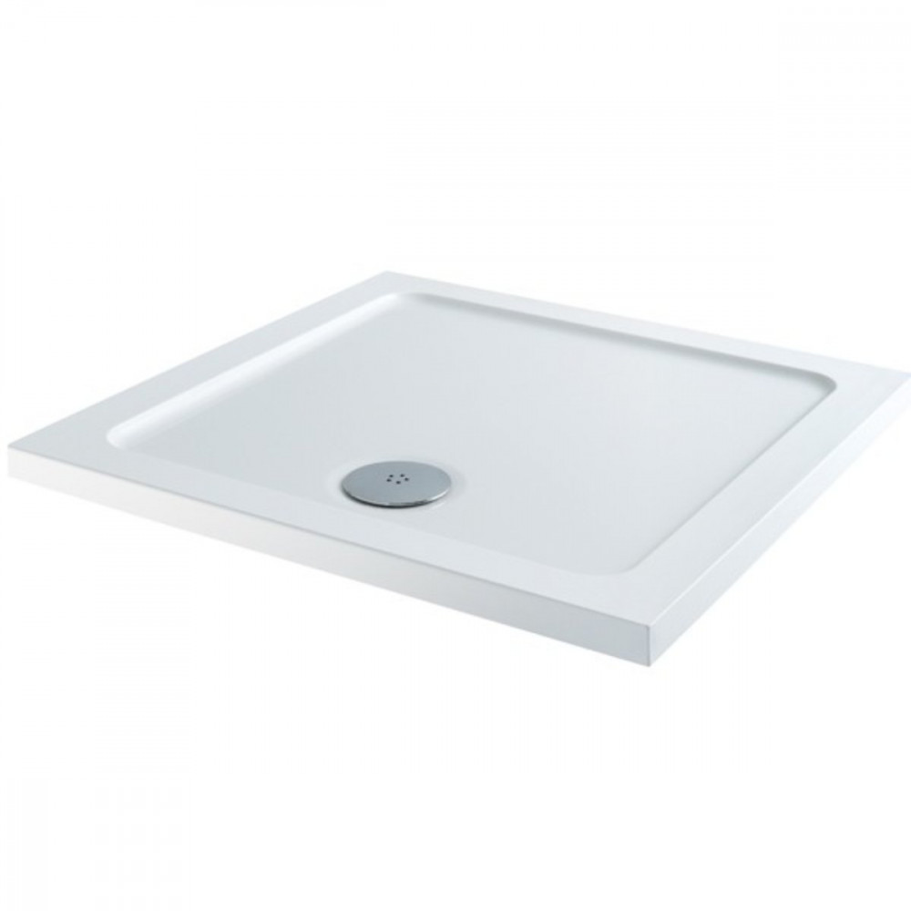 1000mm x 1000mm Lakes Low Profile Shower Tray & Fast Flow Waste