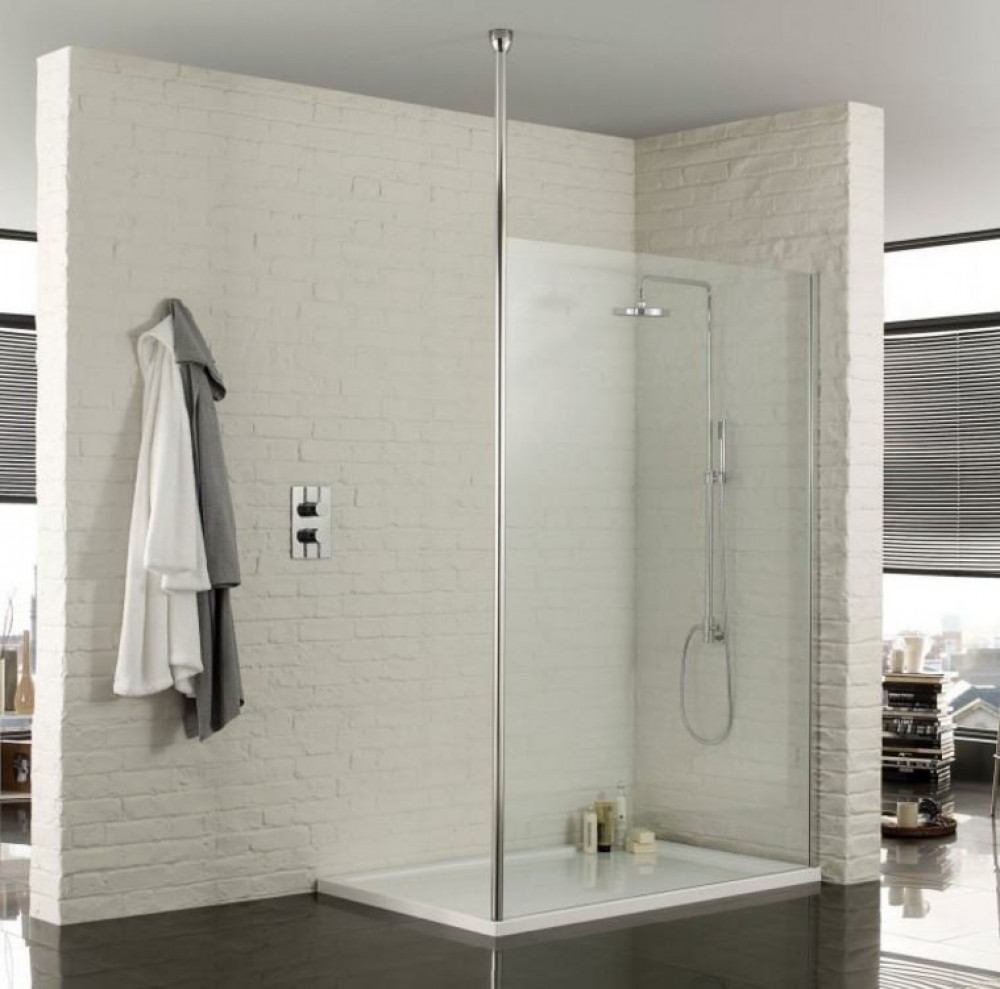 1200mm Wetroom Safety Glass 8mm Shower Panel With Floor To