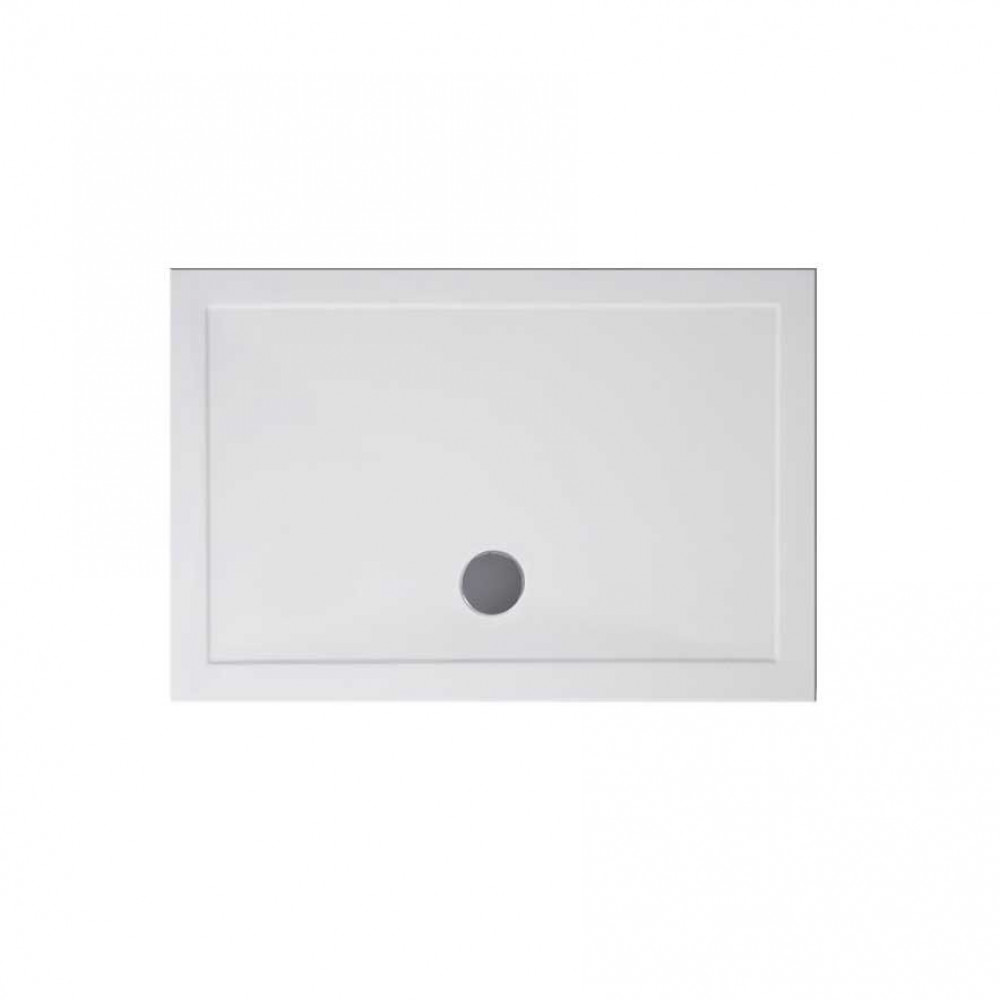 1600mm x 700mm Rectangular Lakes Low Profile Shower Tray & Fast Flow Waste