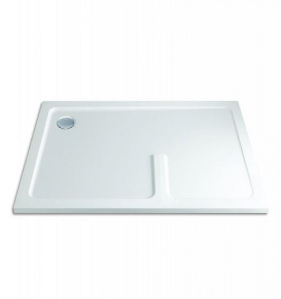 1700 x 900 Rectangular Shower Tray Durastone Low Profile Right Hand Walk In