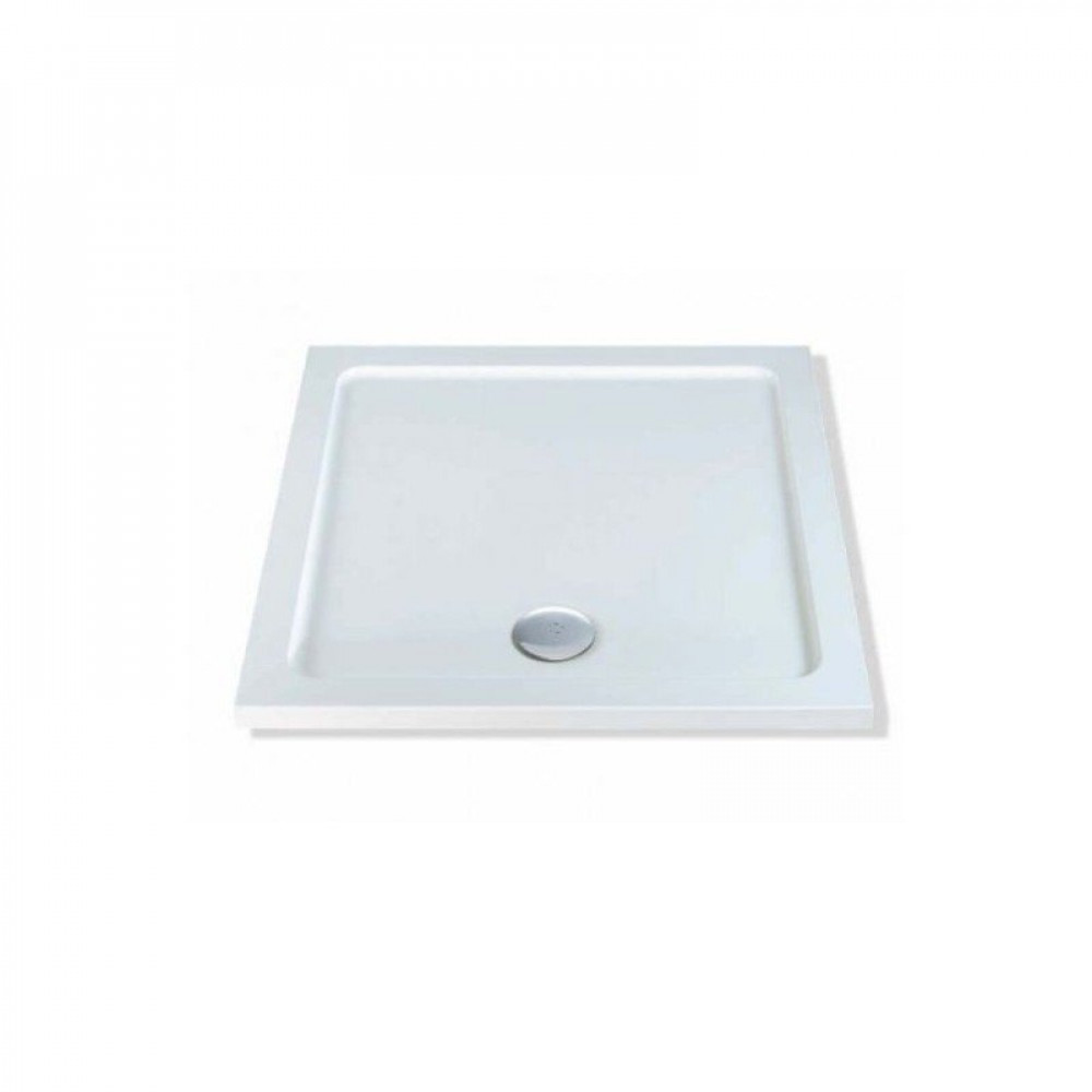 700mm x 700mm Lakes Low Profile Shower Tray & Fast Flow Waste