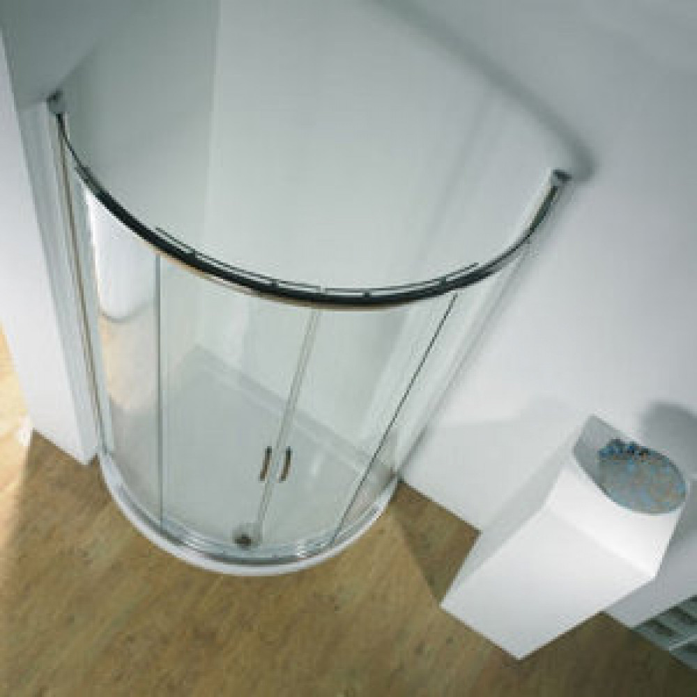 Kudos Infinite 1000 x 810mm Offset Curved Sliding Door Enclosure with Centre Access