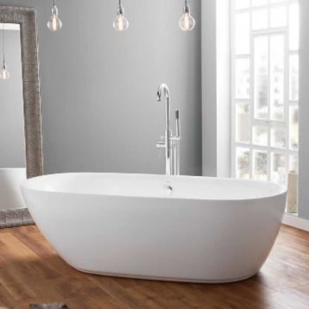 April Cayton Contemporary Freestanding Bath In Room Setting