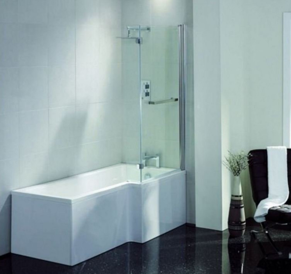 april l shape right hand 1800mm shower bath ideal standard tempo rectangular bath e258401 1800mm x