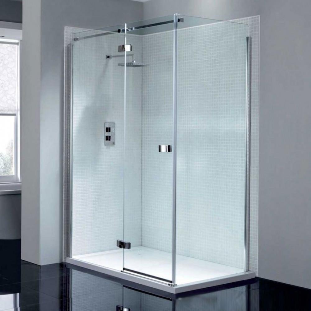 April Prestige2 Frameless 1200mm Hinge Shower Door with In-line Panel