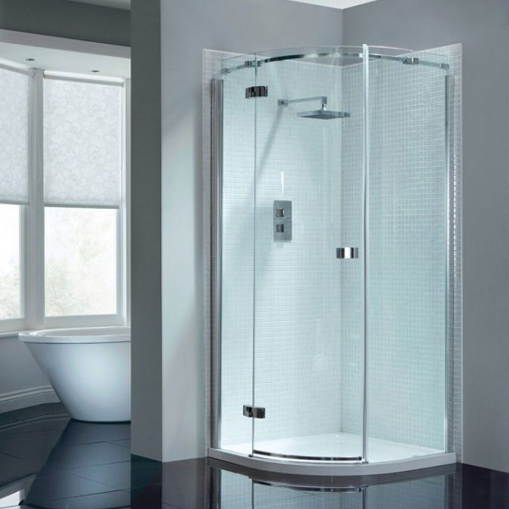April Prestige2 Frameless Single Door Quadrant Shower Enclosure 900mm x 900mm