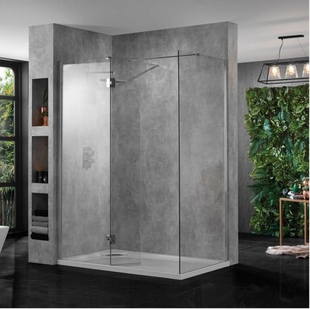 Aquadart 10 Corner Wetroom 800mm Front and Side Panel