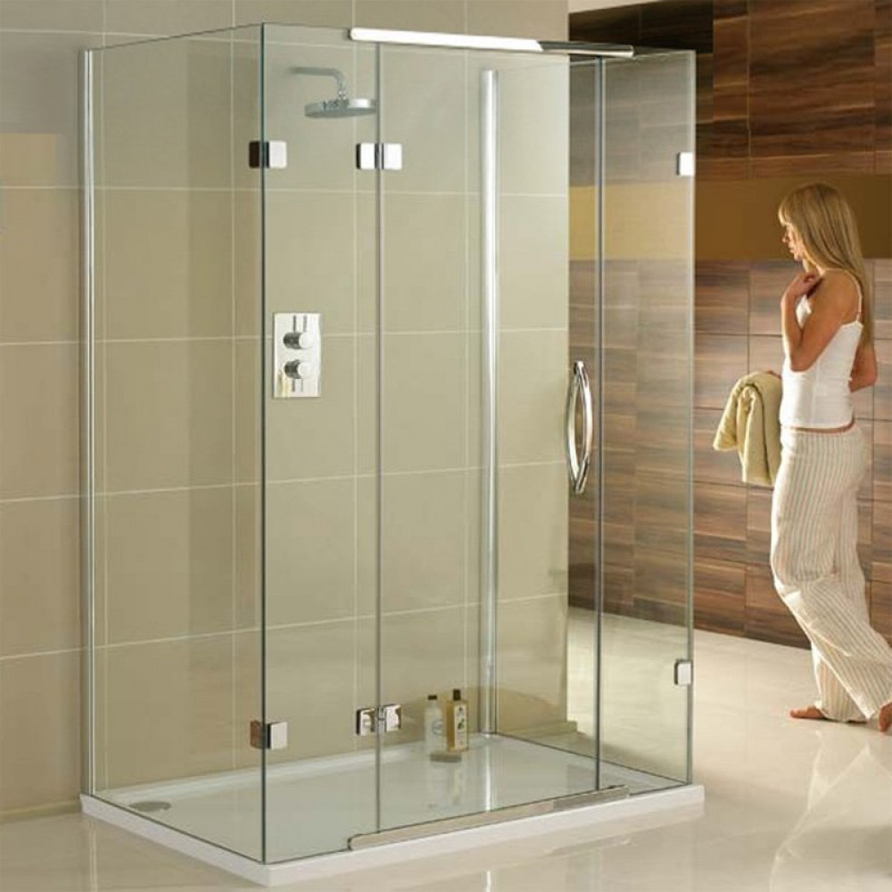 Aquadart 1600 x 800mm 3 Sided Shower Enclosure-1