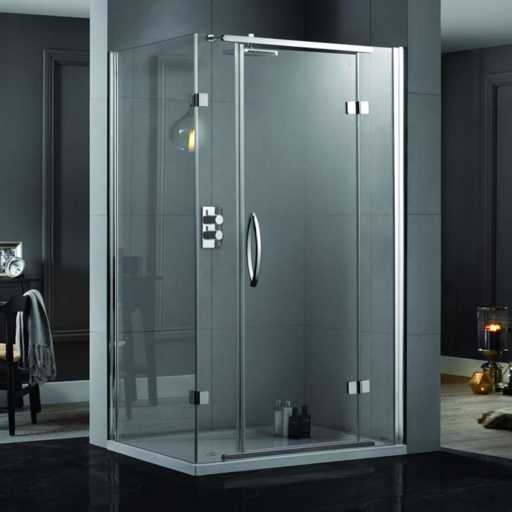 Aquadart Hinge Shower Door & Side Panel 1000 x 800mm
