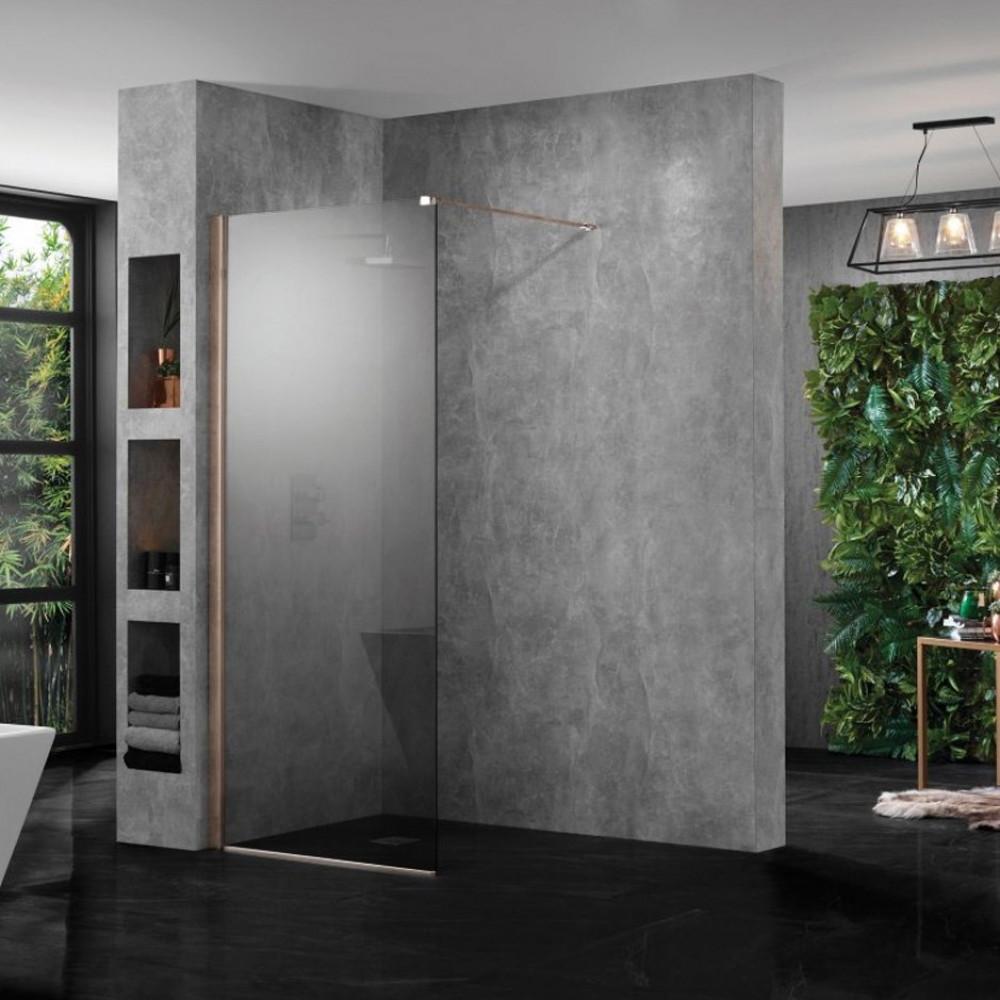 Aquadart Wetroom 10 Smoked Glass Shower Panel 900mm