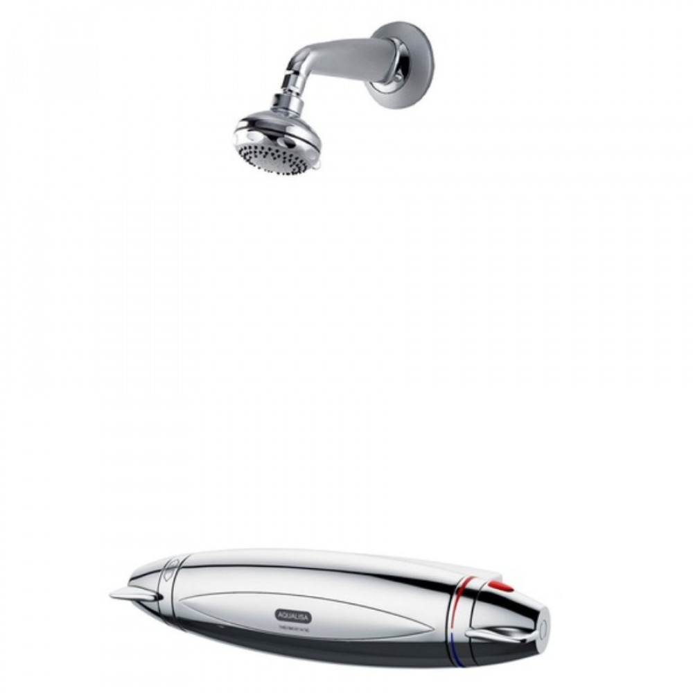 Aqualisa Aquarian Shower Complete with Chrome Fixed Shower Head