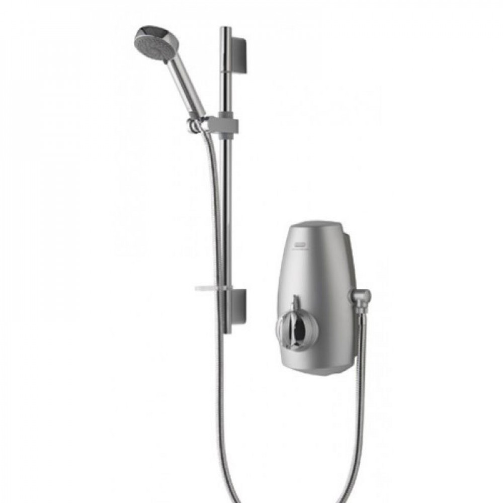 Aqualisa Aquastream Thermostatic Power Shower Satin Chrome Finish