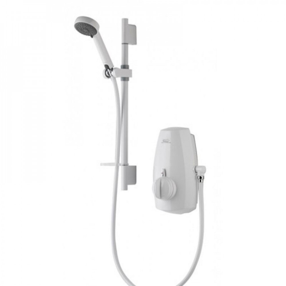 Aqualisa Aquastream Thermostatic Power Shower White Finish