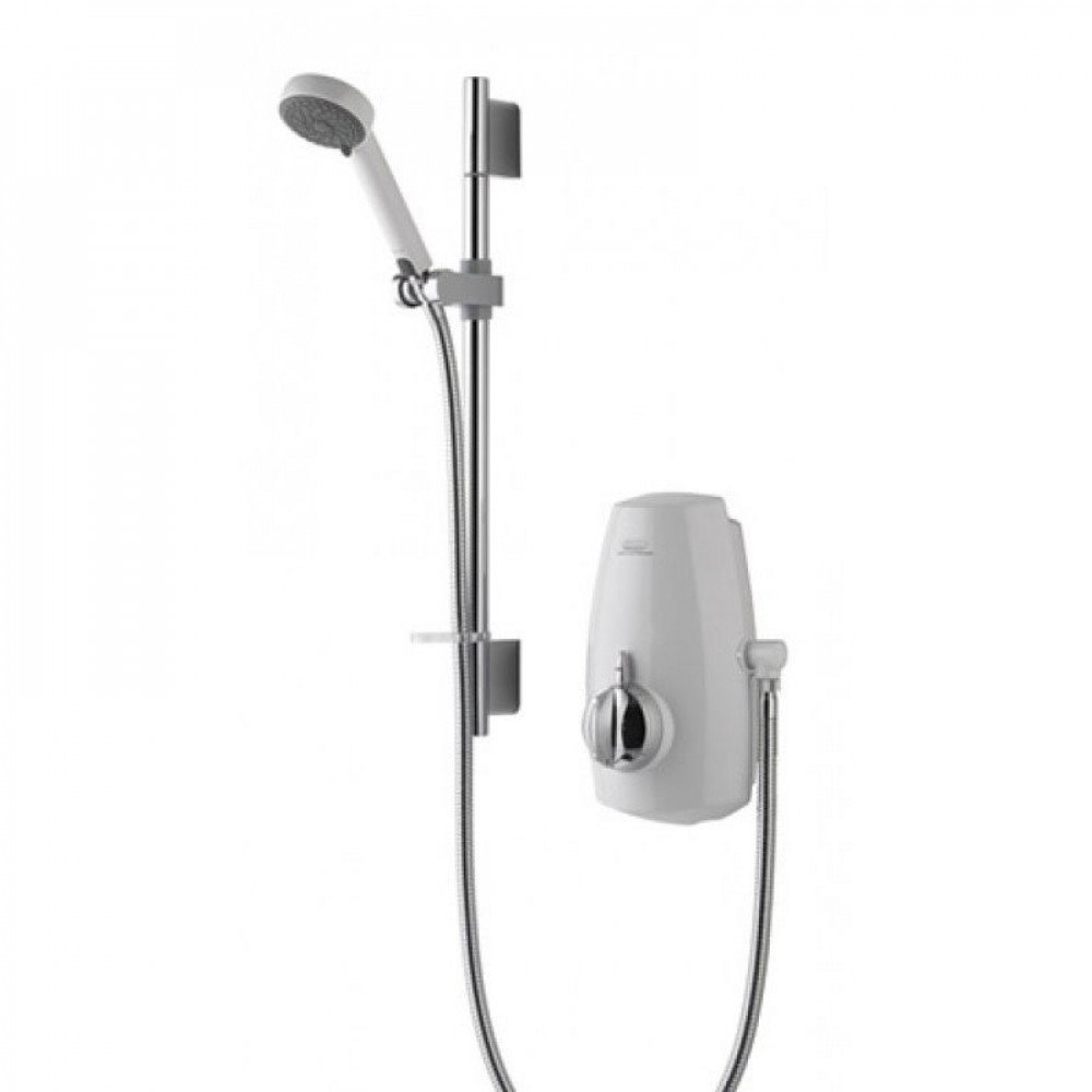 Aqualisa Aquastream Thermostatic Power Shower White & Chrome