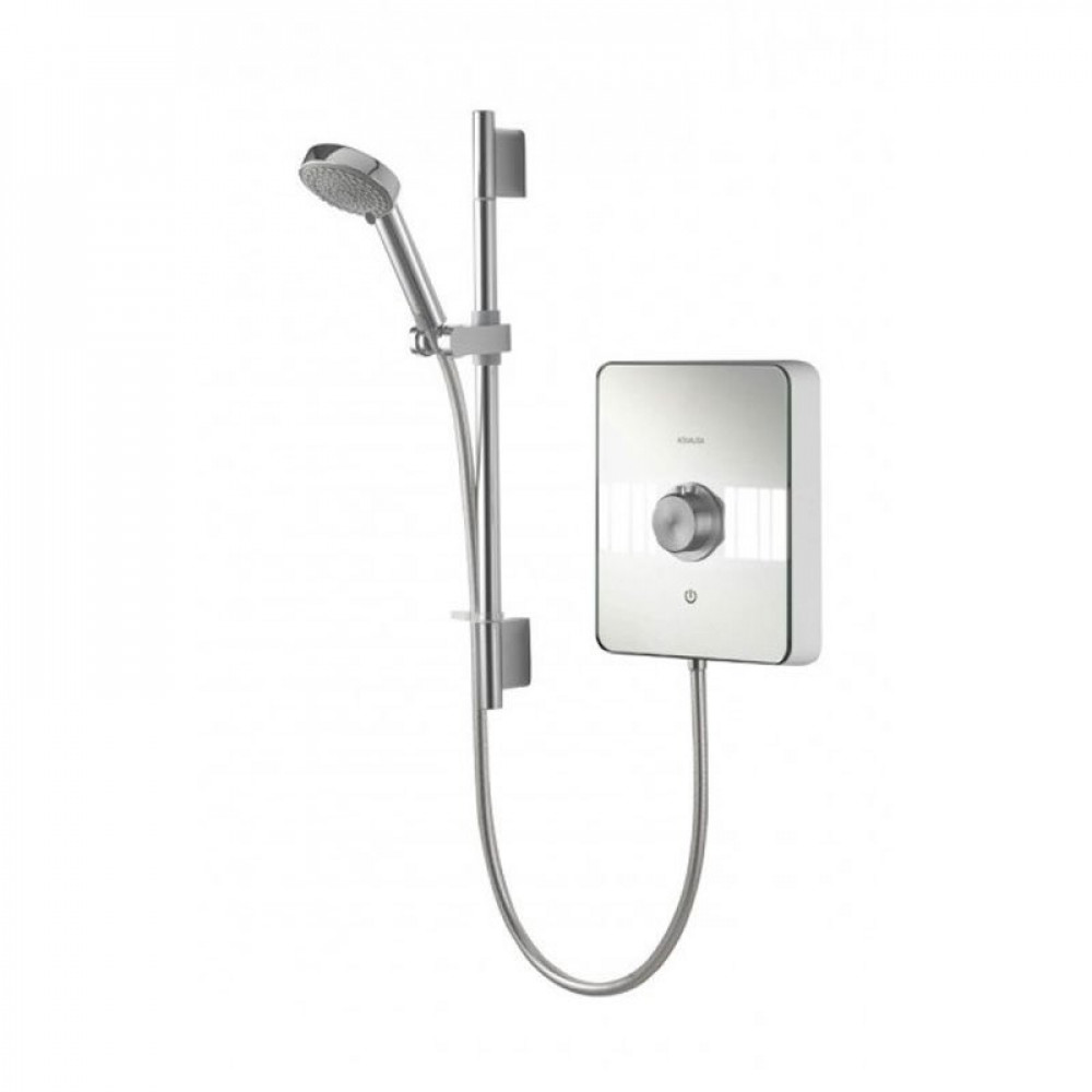 Aqualisa Lumi 10.5kw electric shower white & chrome