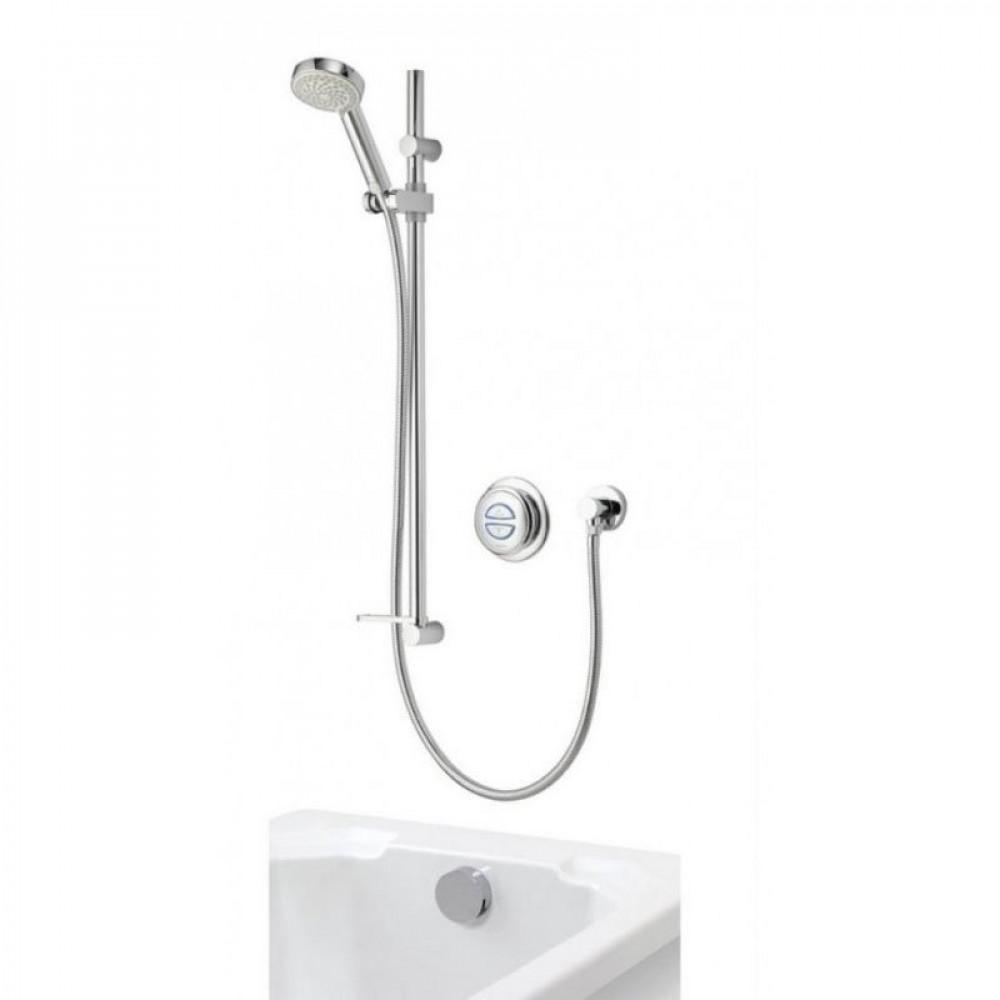 Aqualisa Quartz Concealed digital shower with adjustable head and bath fill - Gravity Pumped