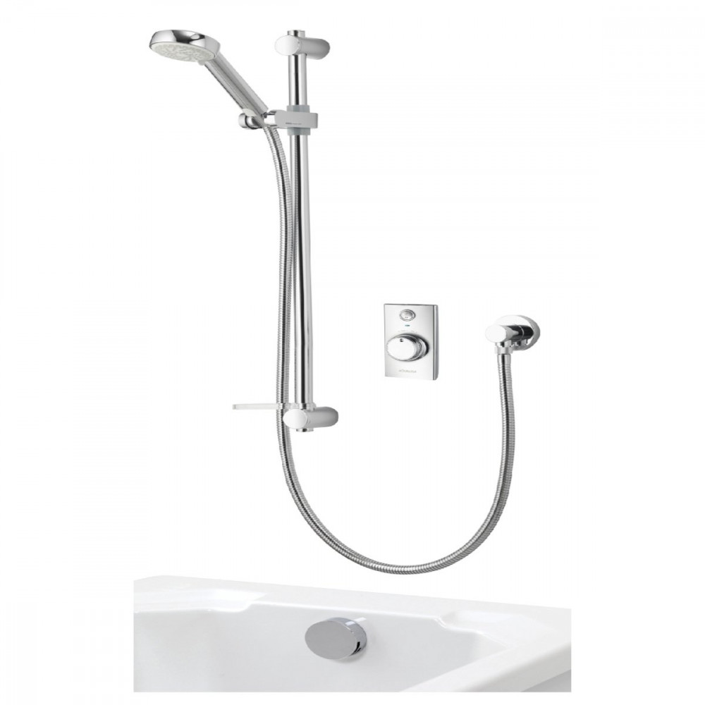 Aqualisa Visage Q Smart Shower Concealed with Adj Head and Bath Fill - Gravity Pumped