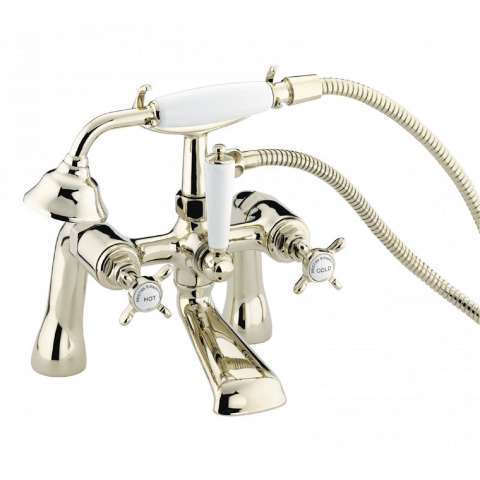 Bristan 1901 Gold Bath Shower Mixer with Ceramic Disc Valves