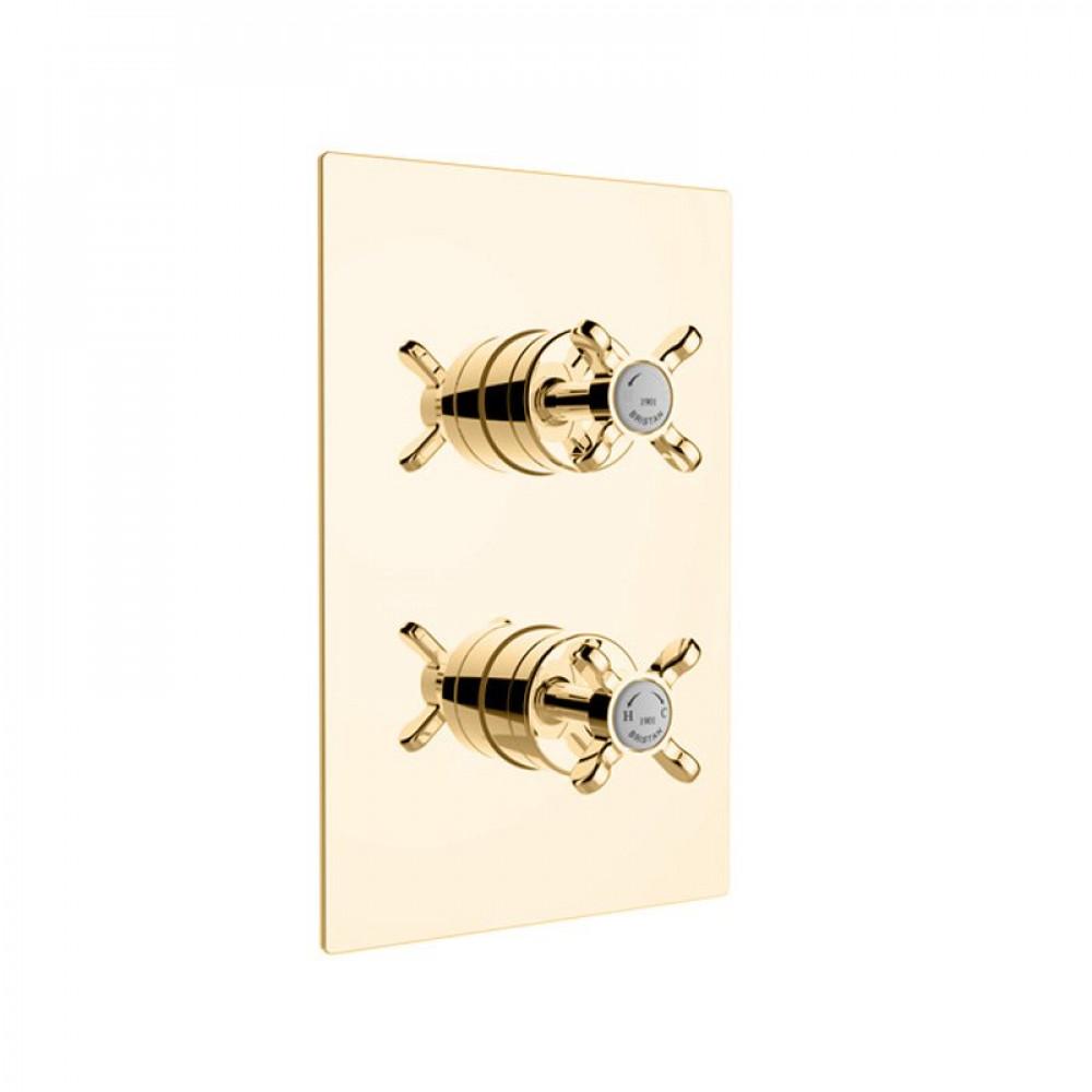 Bristan 1901 Dual Control Thermostatic Shower Valve Gold