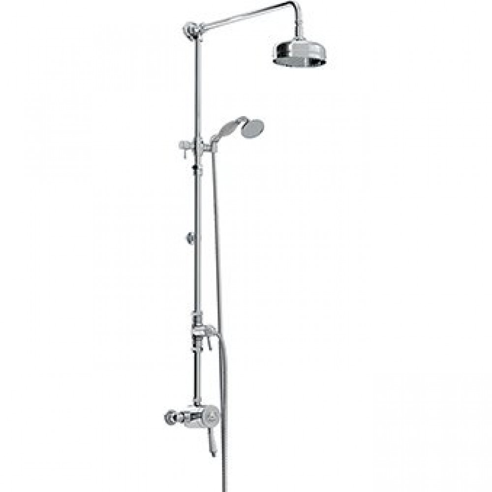 Bristan 1901 Thermostatic Exposed Single Control Shower Valve with Rigid Riser Kit