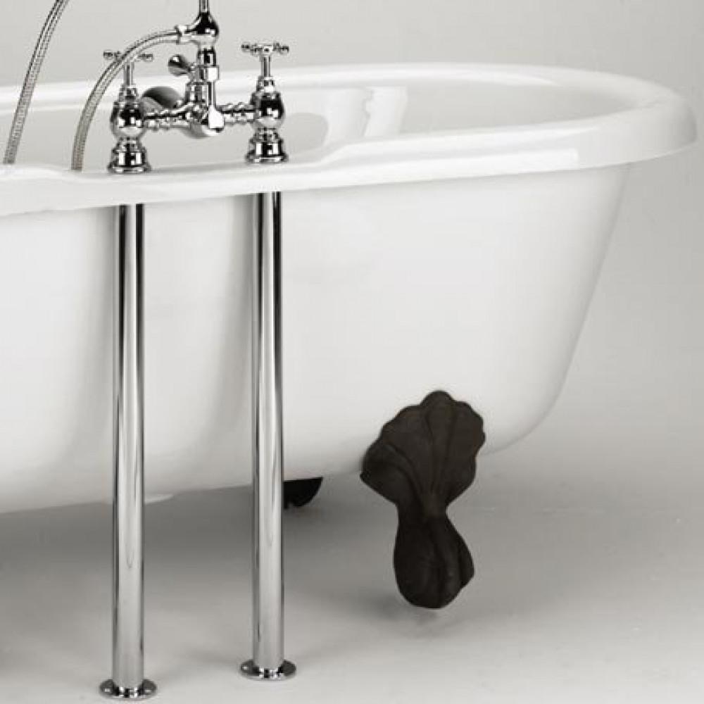 Bristan Bath Pipe Shroud Covers in Chrome