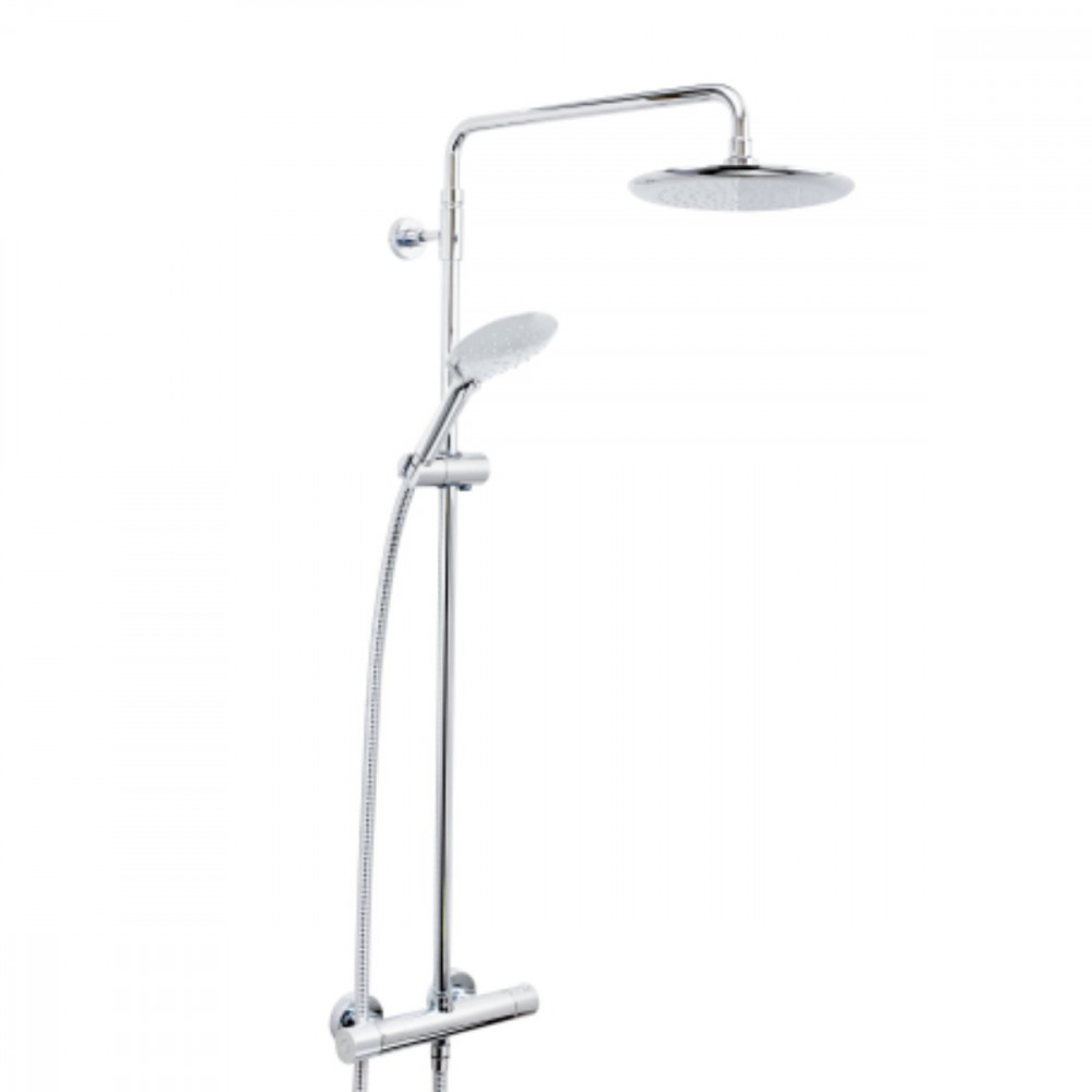 Bristan Carre Thermostatic Shower with Fixed & Adjustable Head