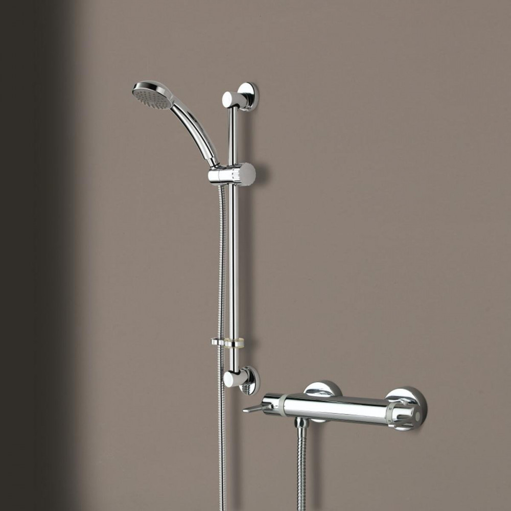Bristan Design Utility Thermostatic Exposed Bar Valve With Shower Kit