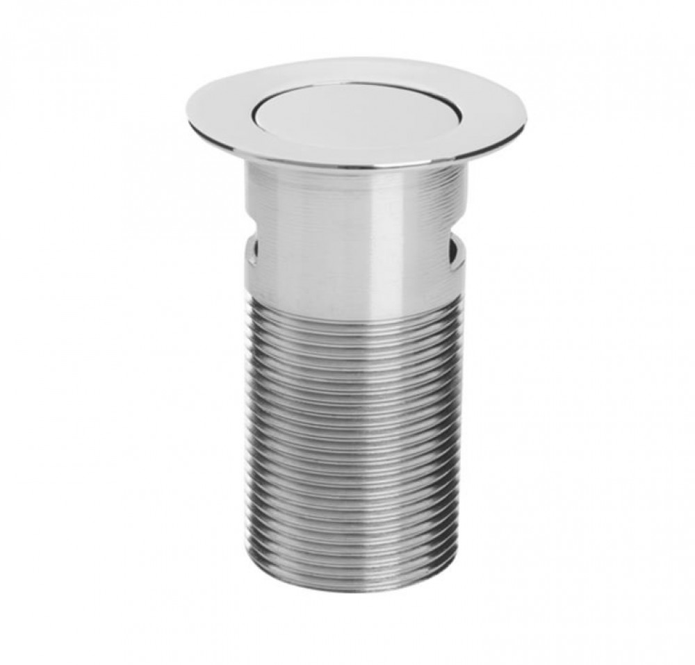 Bristan Round Push Basin Waste Clicker with Push Button Chrome Plated Slotted
