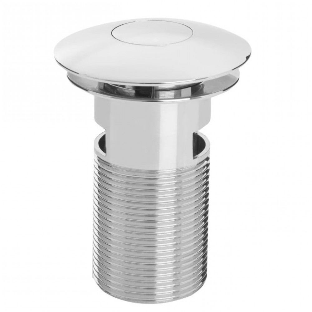 Bristan Round Push Basin Waste Slotted - Chrome