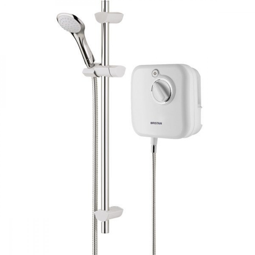 Bristan Thermostatic Power Shower 1000 in White Main