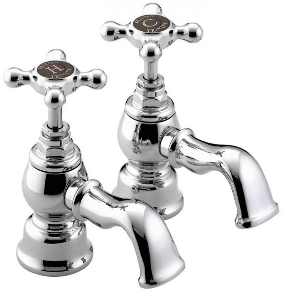 Bristan Trinity Bath Taps Chrome Plated