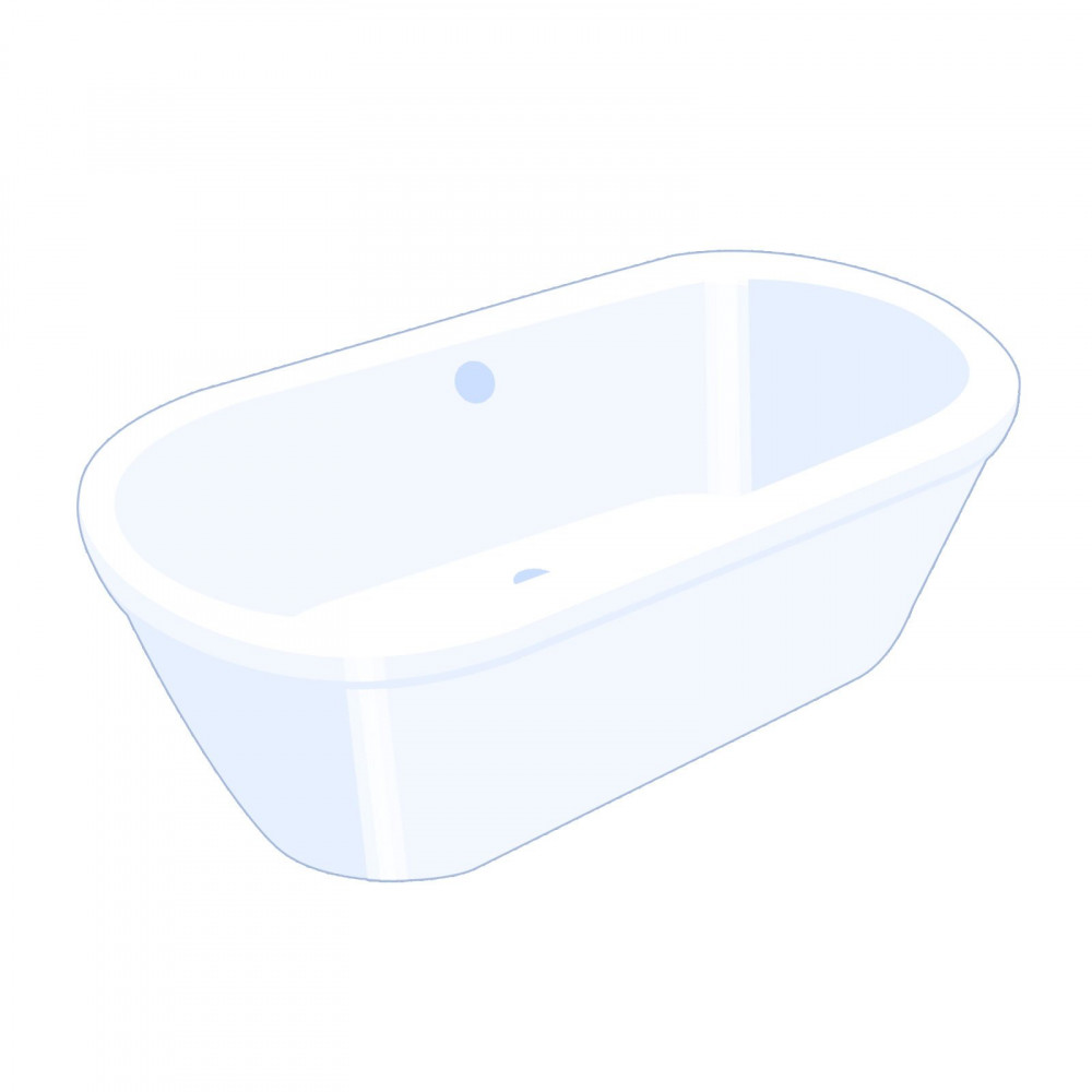 Carron Halcyon Freestanding Bath 1750 x 800mm Red Finish