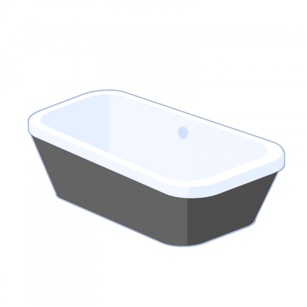 Carron Halcyon Square 1750mm freestanding bath - Black
