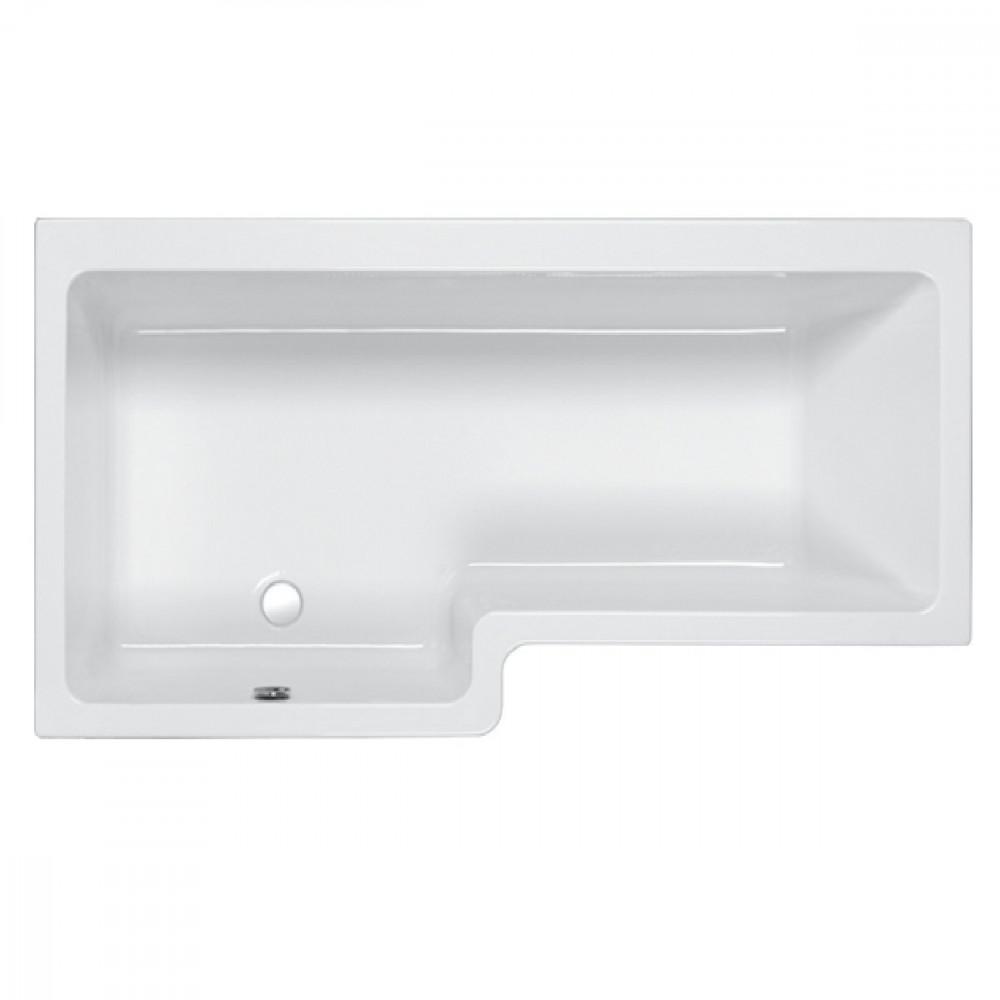 Carron Quantum 1600mm Square Left Hand Shower Bath