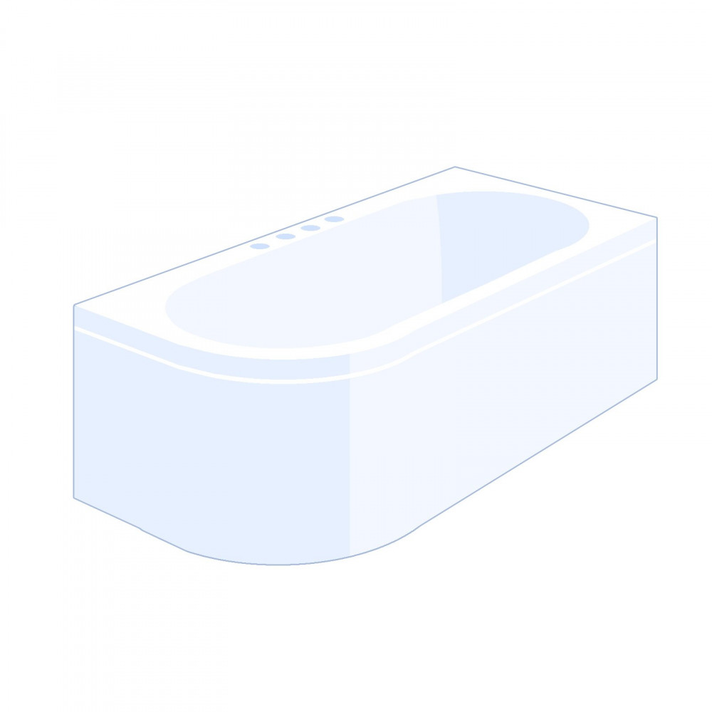 Carron Status 1600 x 725mm Left Hand Bath