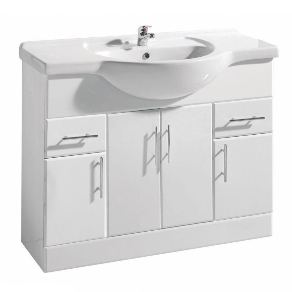 Cassellie Kass 1050mm Basin Unit in High Gloss White