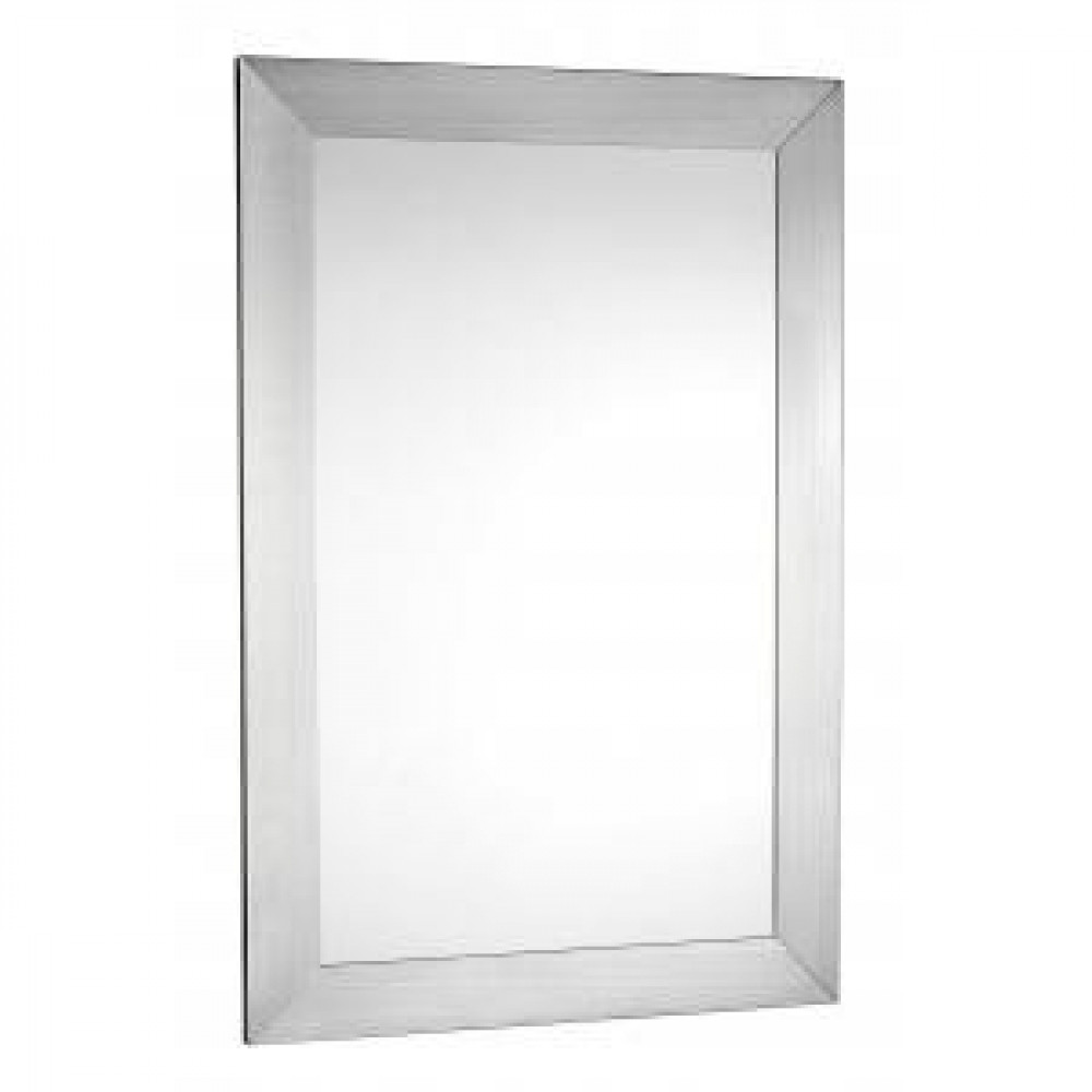 Croydex Parkgate Rectangular Mirror with Brushed Stainless Steel Frame
