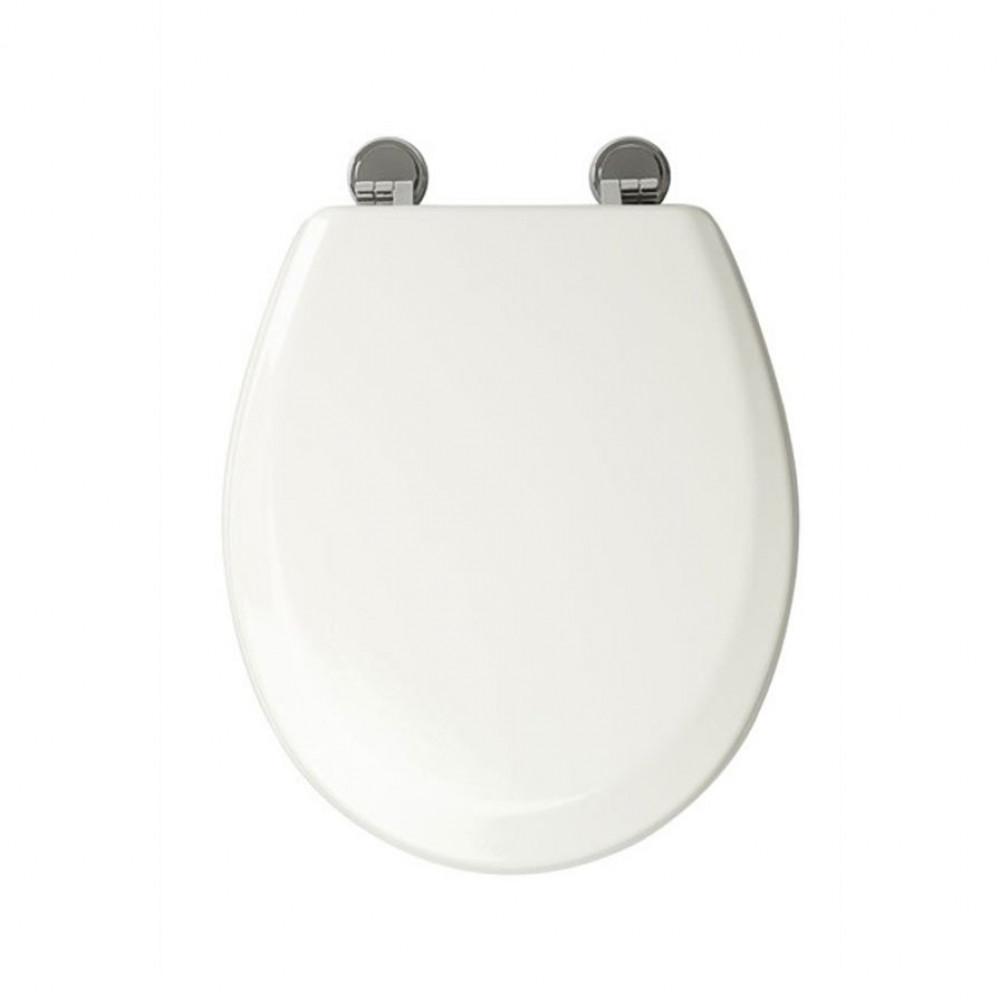 Croydex Ripley White Bevelled Toilet Seat