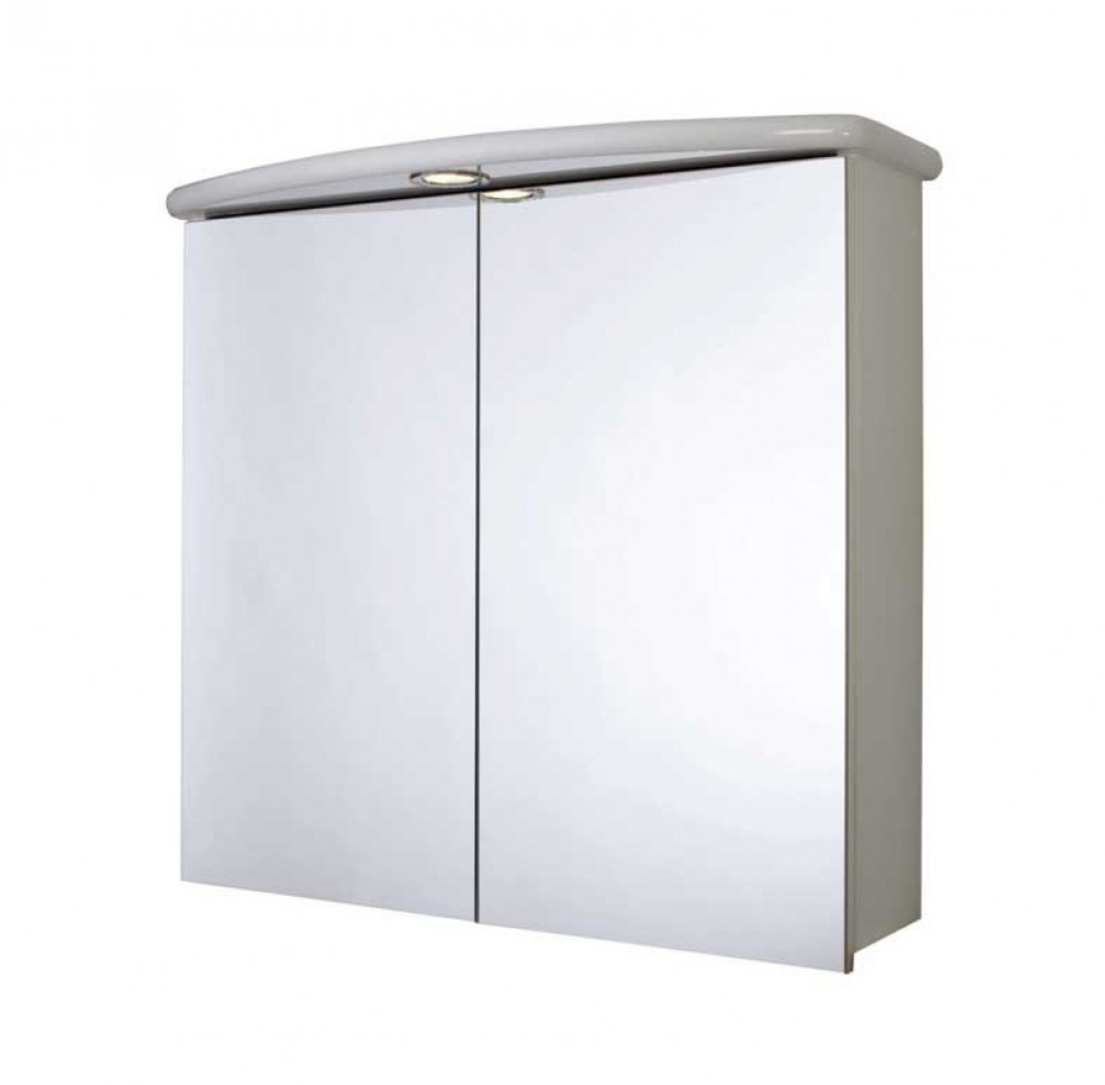Croydex Thames Two Door Illuminated Bathroom Cabinet & Shaver Socket