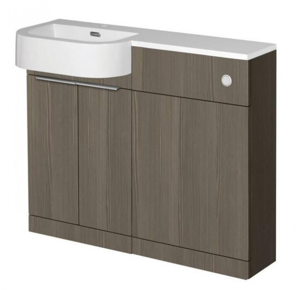 Elation Combination P Shape LH Furniture Pack - Bodega Grey