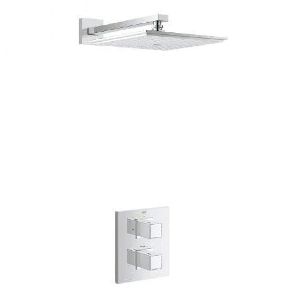 Grohe Grohtherm Cube + Rainshower Shower Solution Pack 2