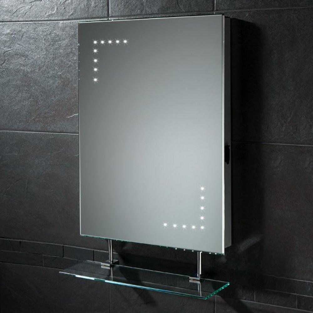 HIB Celeste Illuminated LED Mirror with shaver socket