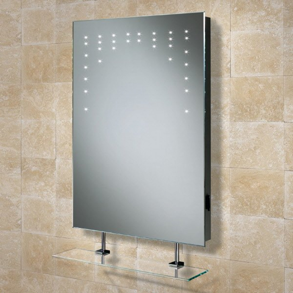 HIB Rain Illuminated LED Mirror with shaver socket